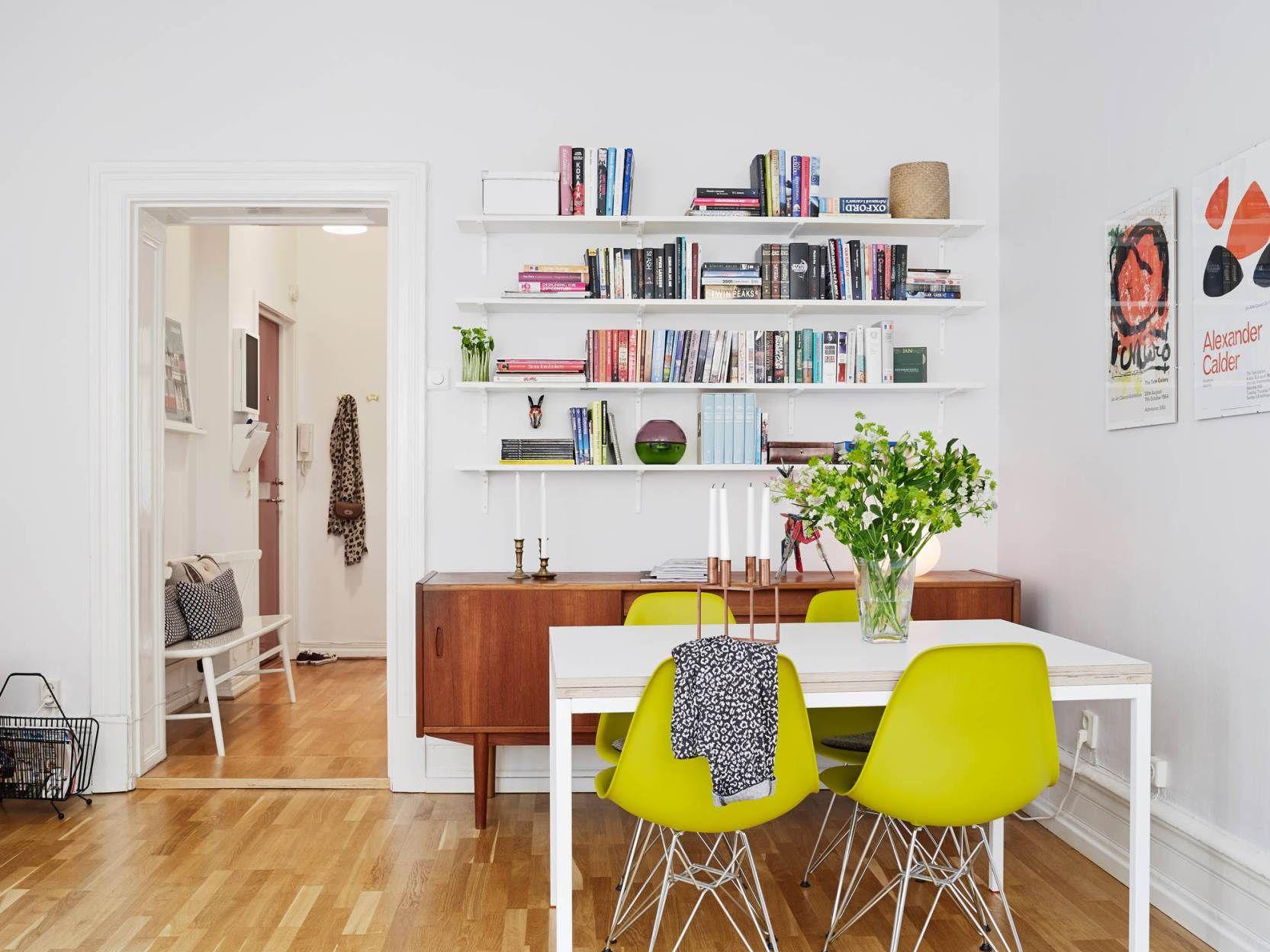 Peque O Sal N De Aires Daneses Mid Century Modern Aparador De  # Muebles Color Mostaza