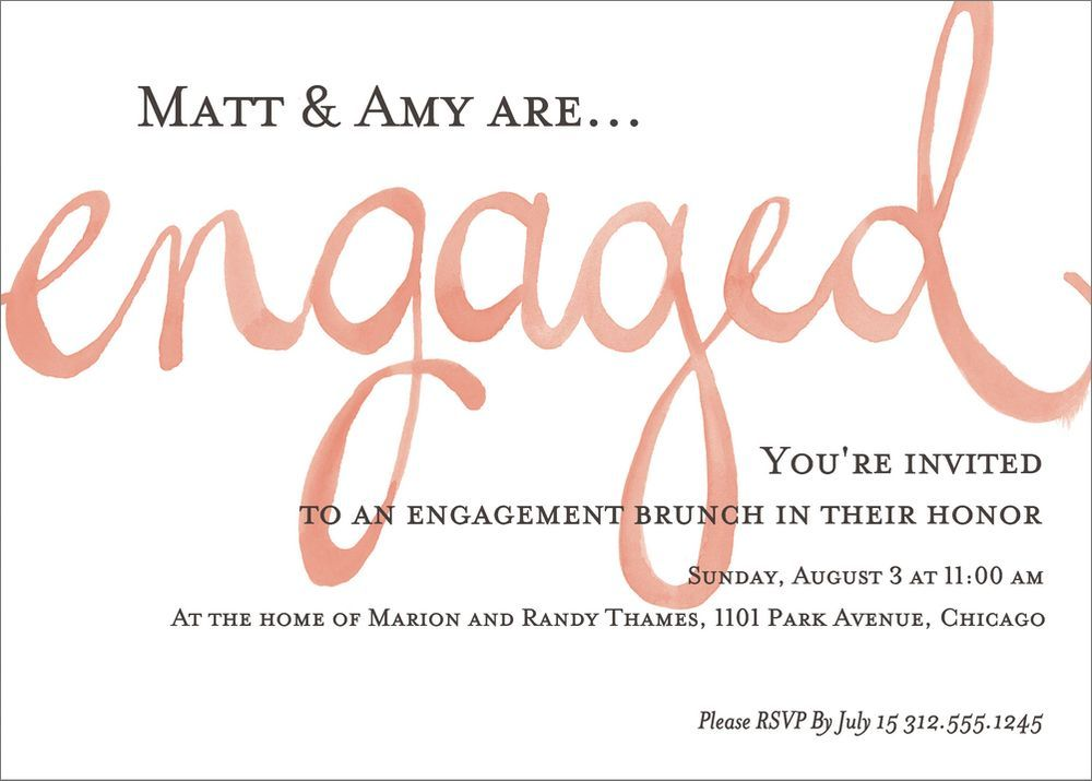 Watercolor Engagement Party Invitation | Paper Source