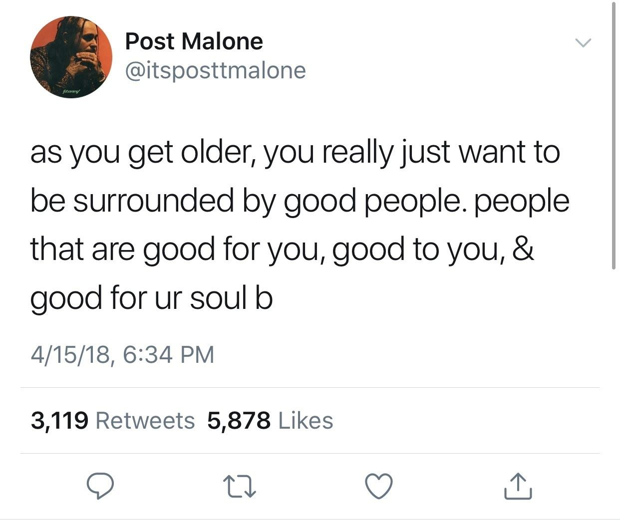 Best Funny Tweets Post Malone's Realest Tweets Post Malone's Realest Tweets | Her Campus 11