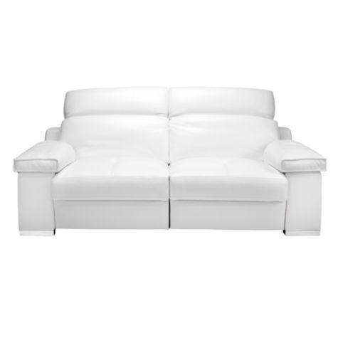 Sloan Electric Reclining Sofa - White | Sofas | Furniture | Z ...