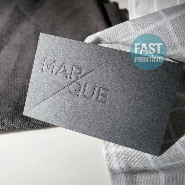 Debossed Finish Business Card On 350gsm 16pt Extra Nube Stock Bisinesscard Debossed Fastprinting Fp Deboss Cards Prints