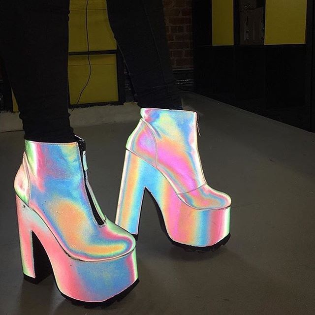 WEBSTA @ yrushoes - Nightmare  reflective boots - #yruclassics #yruplatforms #yruplatforms