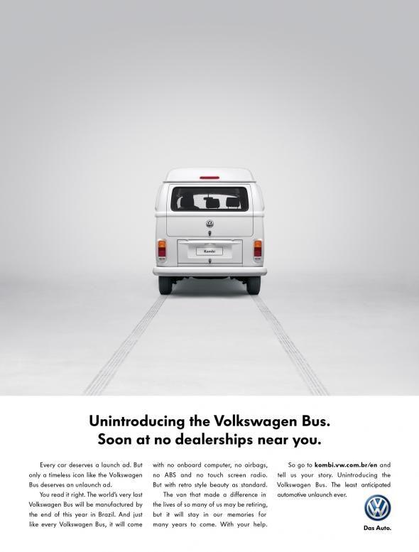 919cfe50ba8cec Poster Ad  Unintroduces  Volkswagen s Iconic  Hippie Van  - DesignTAXI.com