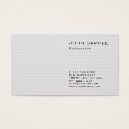 Creative Plain Modern Professional Elegant Grey Business Card   Architect  Gifts Architects Business Diy Unique Create Your Own