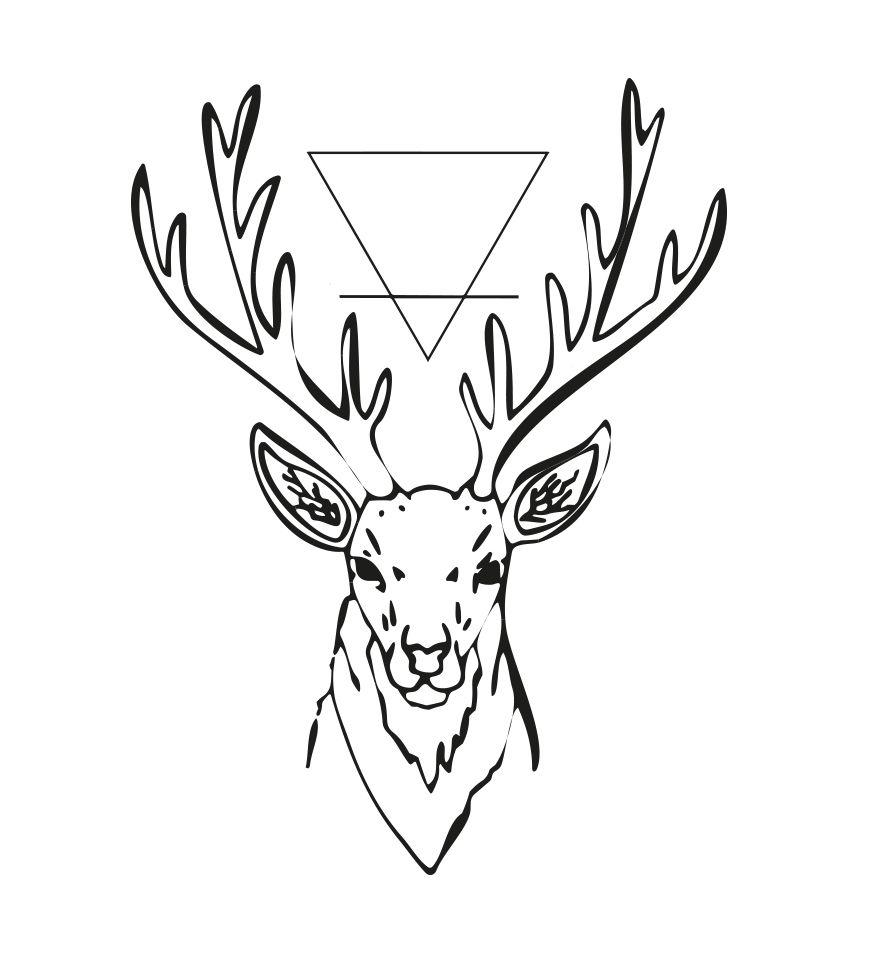 Cr ation tatouage tatouage cerf illustration tattoos - Dessin de tete de cerf ...