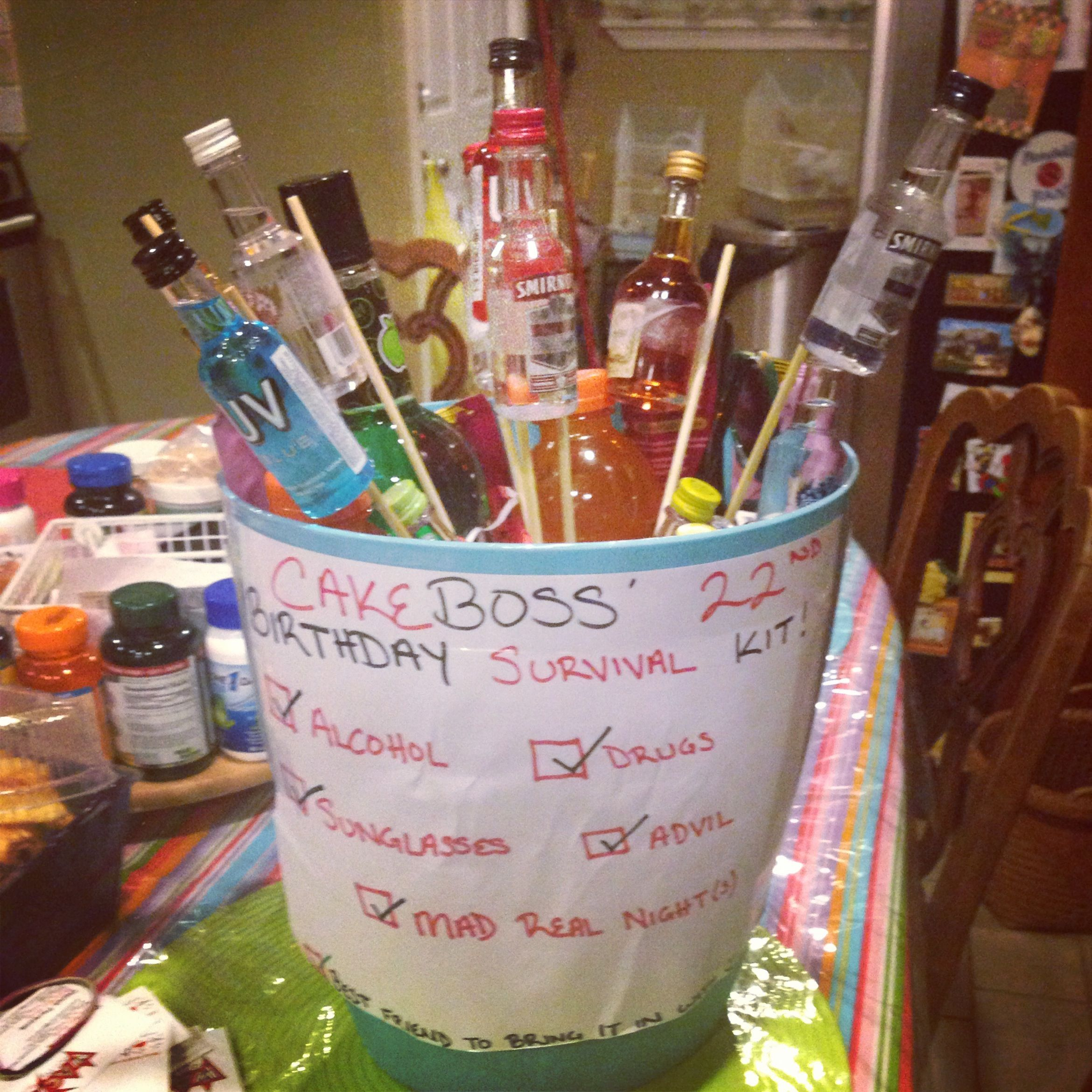 Marias 23rd birthday shot gift basket Shot bottle gift basket