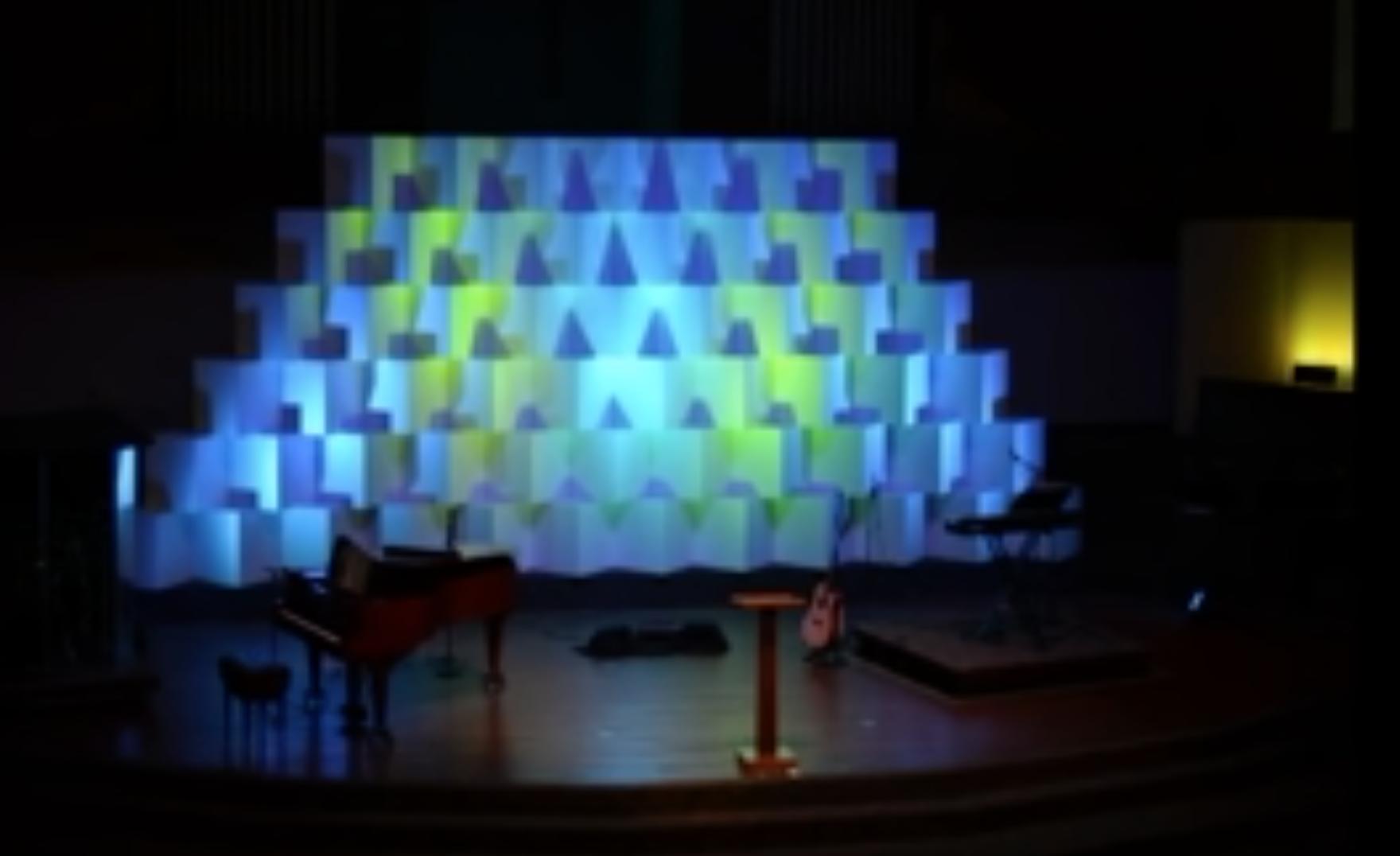 White Corrugated Boxes Church Stage Design Church Stage Design