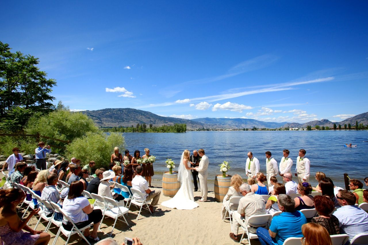 Ceremony on the Lake at Walnut Beach Resort in Osoyoos, BC
