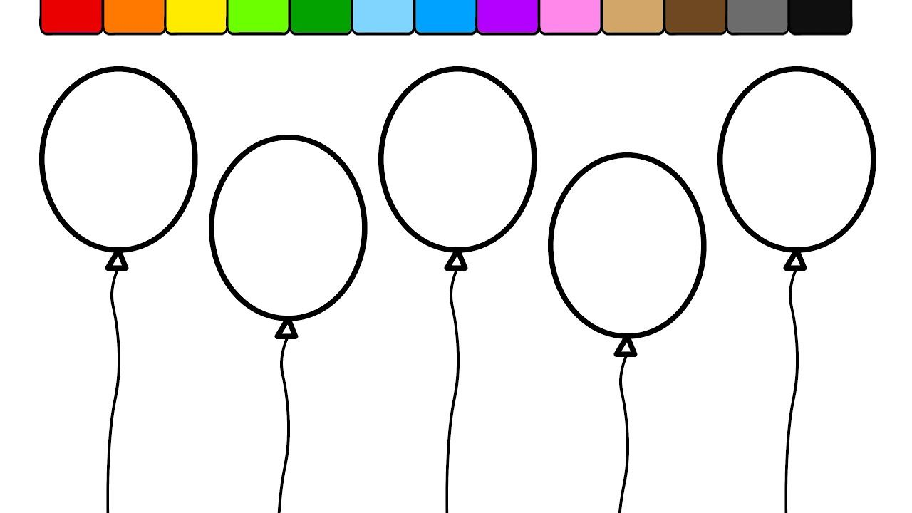 Balloon Coloring Page Learn Colors For Kids And Color This Irobot Pages Eiffel Tower Flags Line Art Zip Monster Girl Drawing Appropriate Halloween Party Anime Di 2020