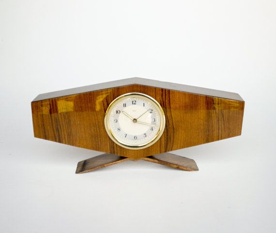 Awesome Mid Century Modern Desk Clock / Alarm Clock By TheCuriousCaseShop, U20ac30.00