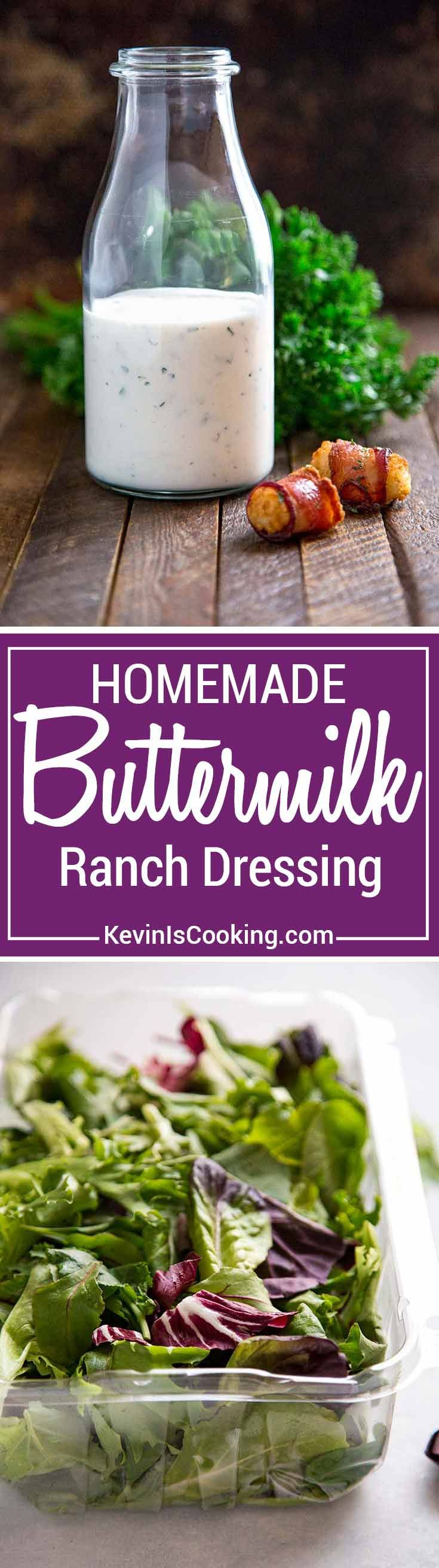 Homemade Buttermilk Ranch Dressing A Thick And Creamy Salad Dressing Made With Buttermilk Yogurt Condiment Recipes Homemade Buttermilk Creamy Salad Dressing
