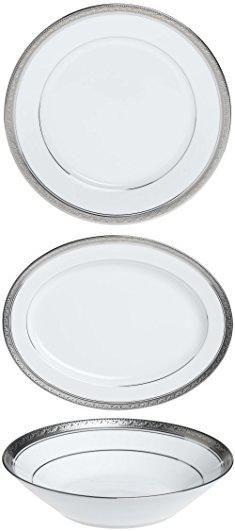 Noritake China Plates. Noritake Crestwood Platinum - 50 piece set ...