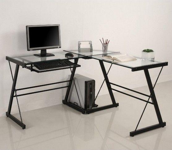 12 Amazing Wood And Glass Computer Desk Photos Ideas Modern Ebay