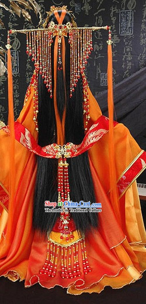 Ancient Chinese Princess, Clothing & Hair Accessories, Complete Set for Adults or Children