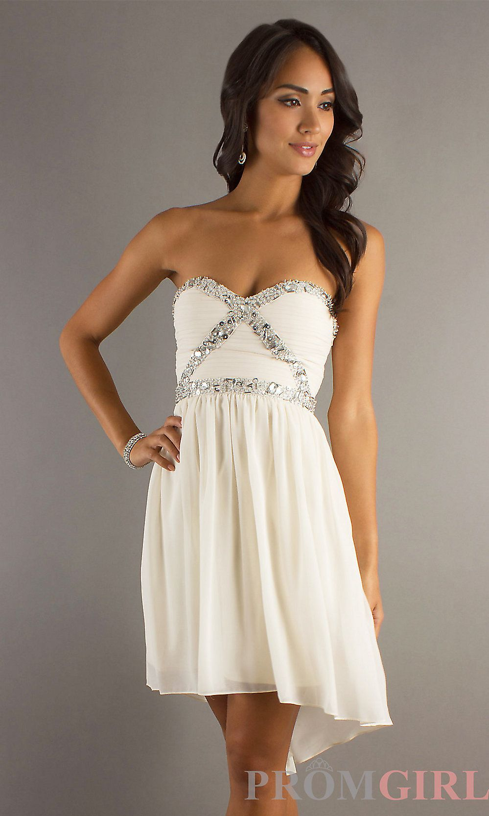 Strapless high low formal dress strapless prom dressespromgirl