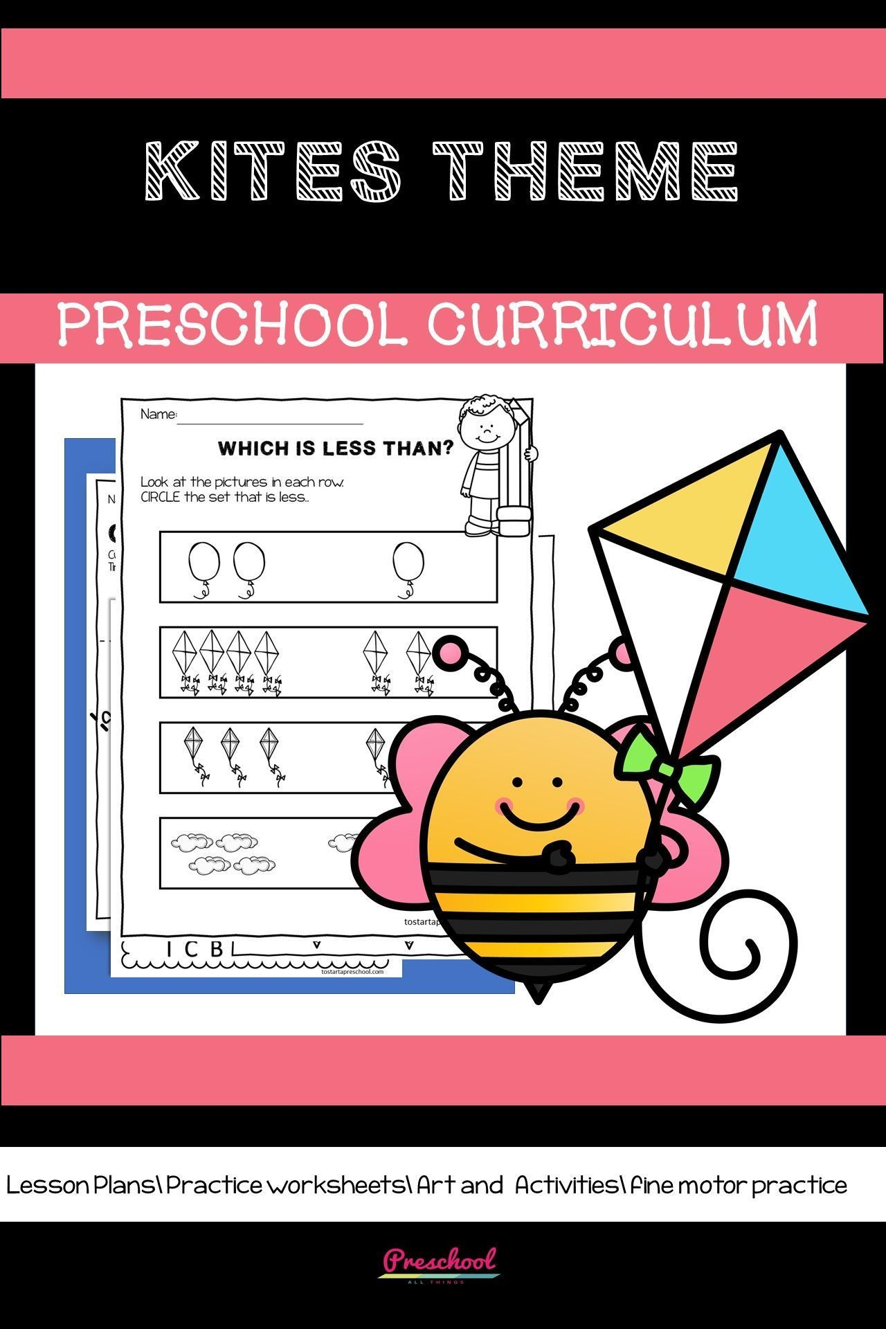 Preschool Kite Theme Distance Learning In