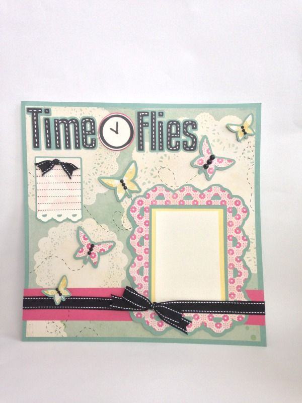 Times Flies layout made using the When We Were Kids cartridge ...