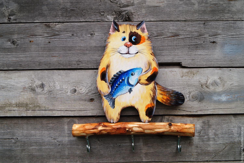 картинка деревянного кота относительно
