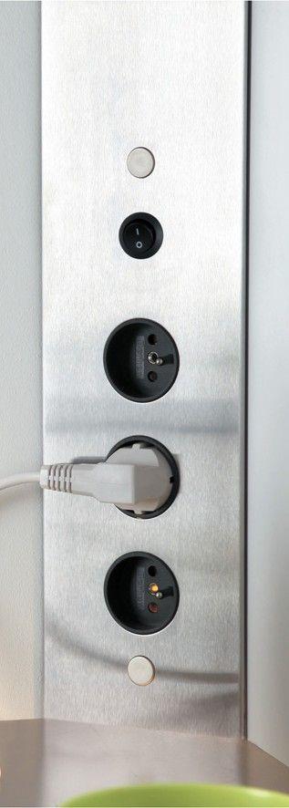 multiprise d 39 angle pour cuisine avec interrupteur et convertisseur office pinterest. Black Bedroom Furniture Sets. Home Design Ideas