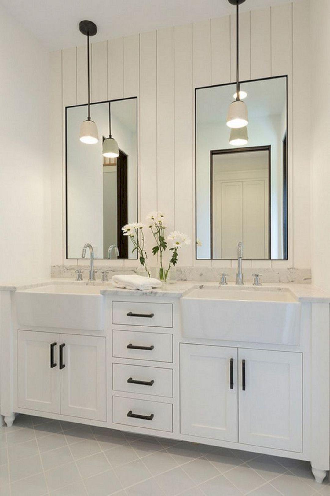 Elegant White Bathroom Vanity Ideas 55 Most Beautiful