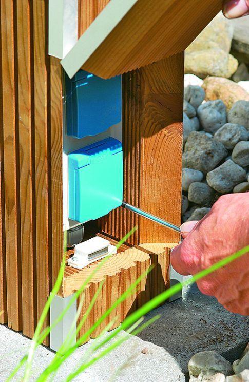 garten steckdose diy garden decor garden deco. Black Bedroom Furniture Sets. Home Design Ideas