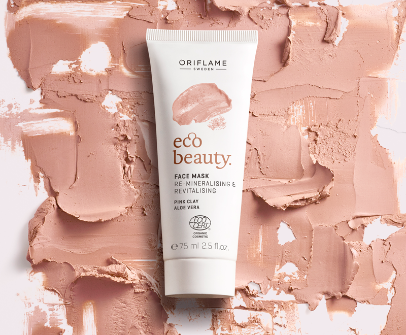 Ecobeauty Pink Clay Mask Oriflame Cosmetics Pink clay