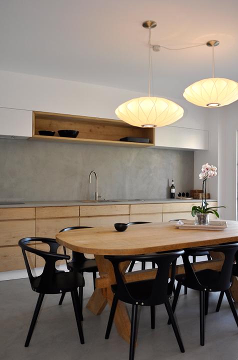 Sol beton ciré couleur Gris Perle   Cuisine ouverte   Pinterest