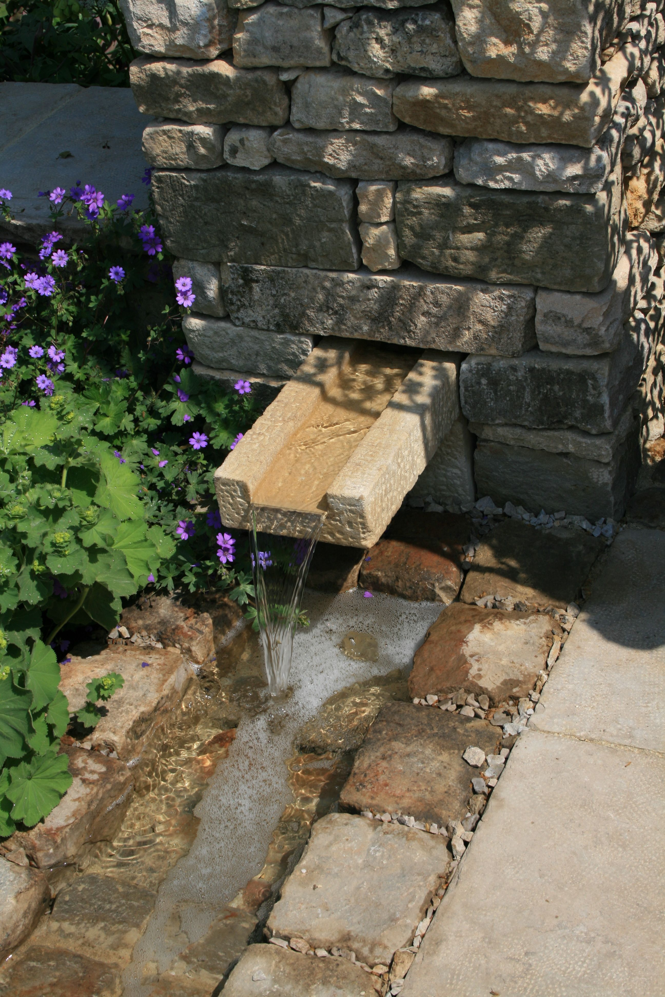 Garden Ideas 2012 stone channel/rill chelsea 2012 - cleve west   landscape water