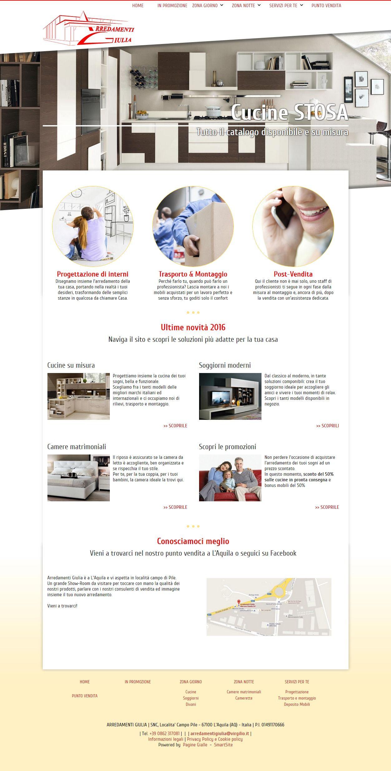 realizzato su SmartEditor Italiaonline. HTML5, CSS3 ...