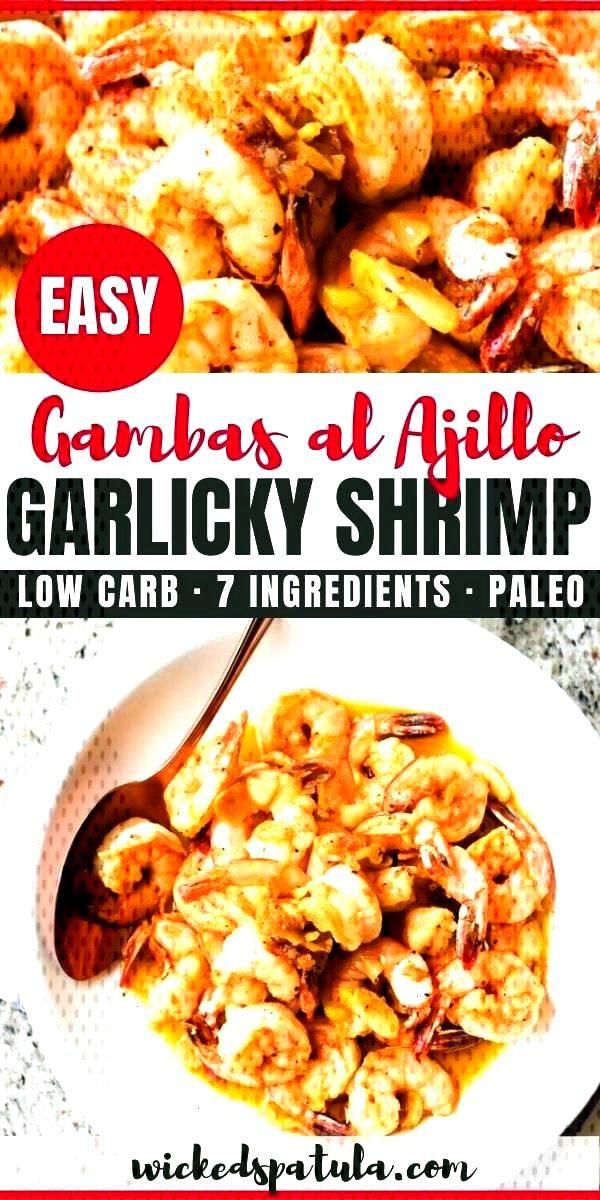 Spanish Garlic Shrimp Recipe (Gambas al Ajillo) | This EASY sauteed garlic shrimp recipe (gambas al