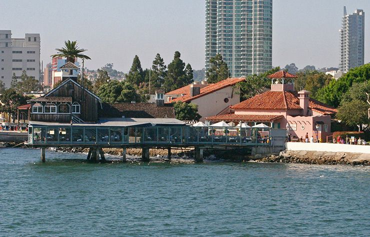 Restaurant perched over the water in Seaport Village always serves a fresh catch of seafood
