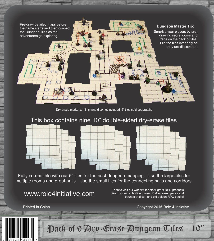Dry Erase Dungeon Tiles (9 10