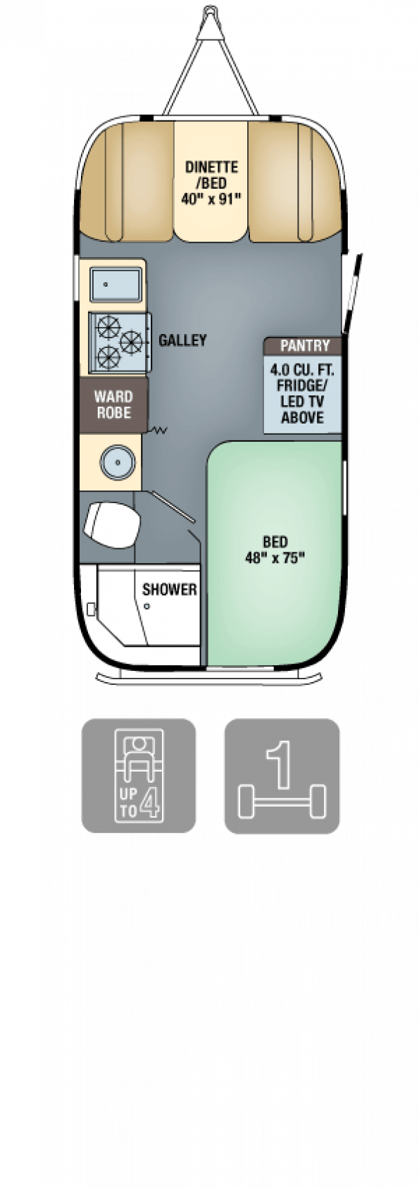 Photo of Floor Plans – Flying Cloud 19. An Airstream with enough head room #recreationalr…