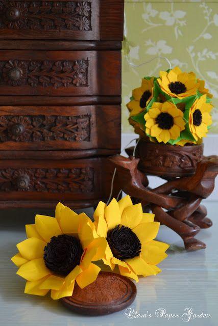 Origami Sunflower Craft Ideas Pinterest Origami Sunflowers