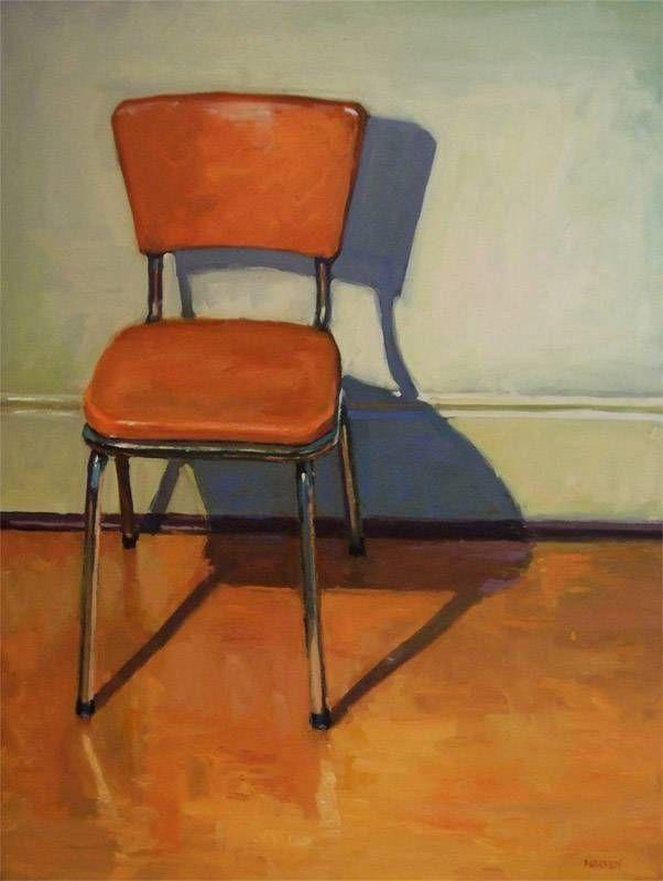 Orange Vinyl Chair By Brian Harvey Art Chair Chair Drawing Vinyl Chairs
