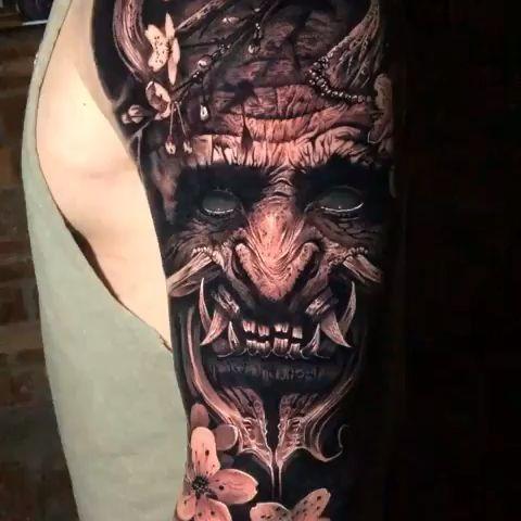 Black & Grey Realism Arm Tattoo #realismtattoo #blackandgreytattoo #skingiants #tattooist