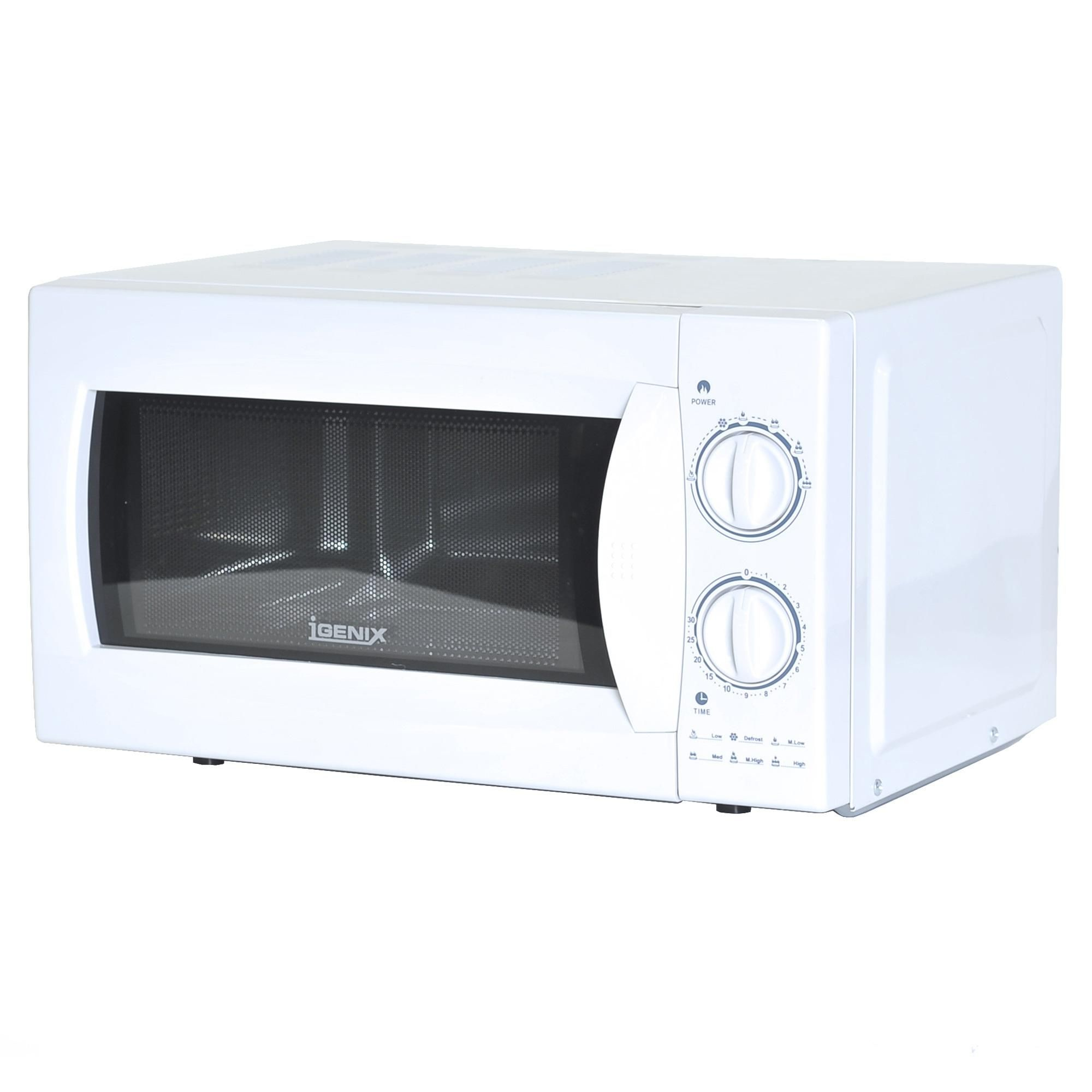 Igenix Ig2980 Manual Microwave With Stainless Steel Interior 20 L 800 W White