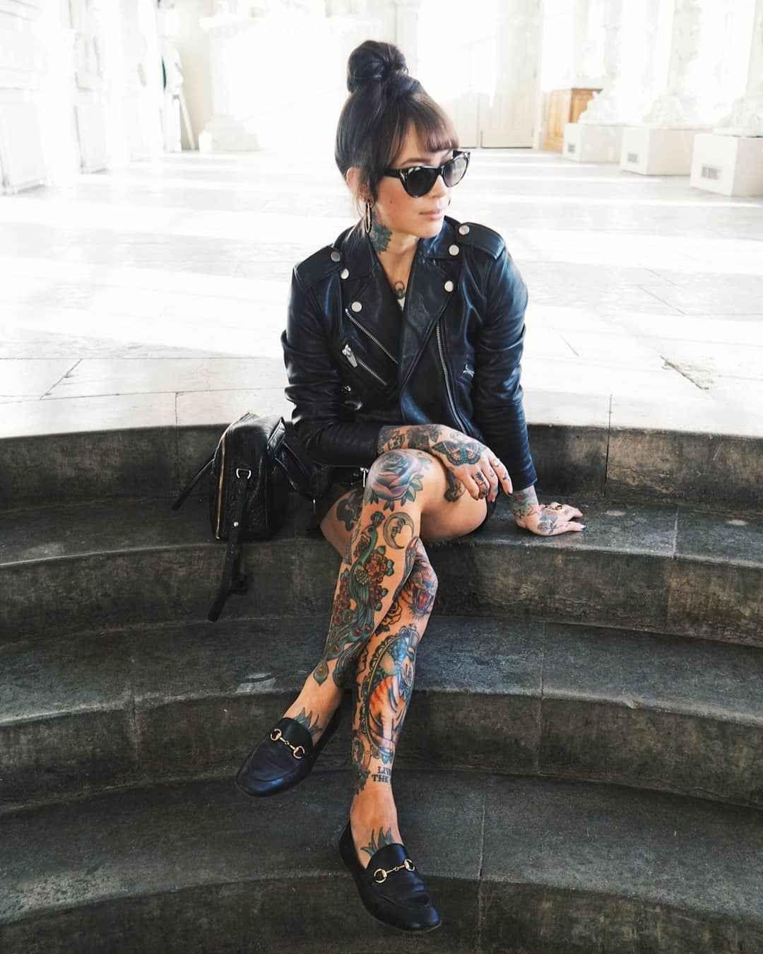 Tattooed model and fashion blogger Sammi Jefcoate