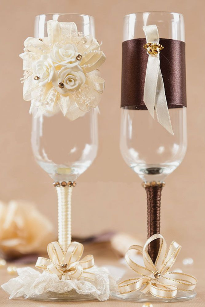 30 Beautiful Wedding Glasses Decor Ideas Boda Wedding Glasses