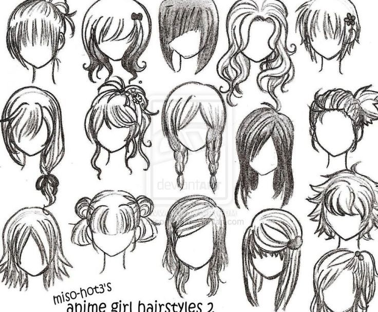 anime curly hairstyles girls