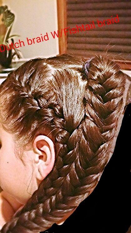 Dutch braid w/beautiful fishtail