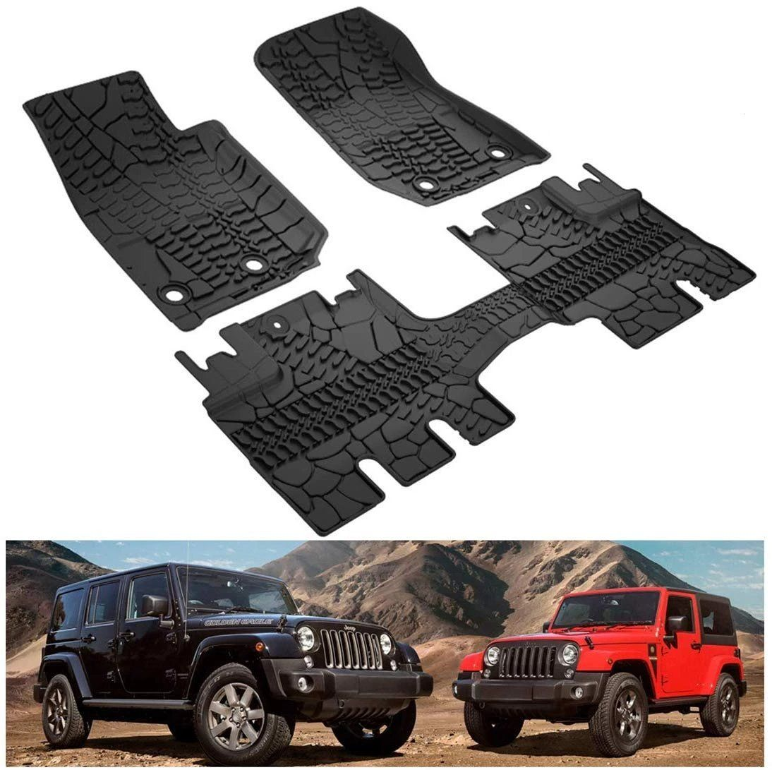 Floor Mats All Weather Protection Slush Mat Black Floor Mats Jeep Weather