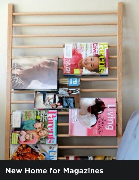 Magazine display.  When the crib is retired, you can use the sections as wall storage  (magazines, jewelry, belts etc)