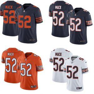 Men S Chicago Bears 52 Khalil Mack Stitched Jersey In 2020 Nfl Jerseys Men Nfl Jerseys Chicago Bears