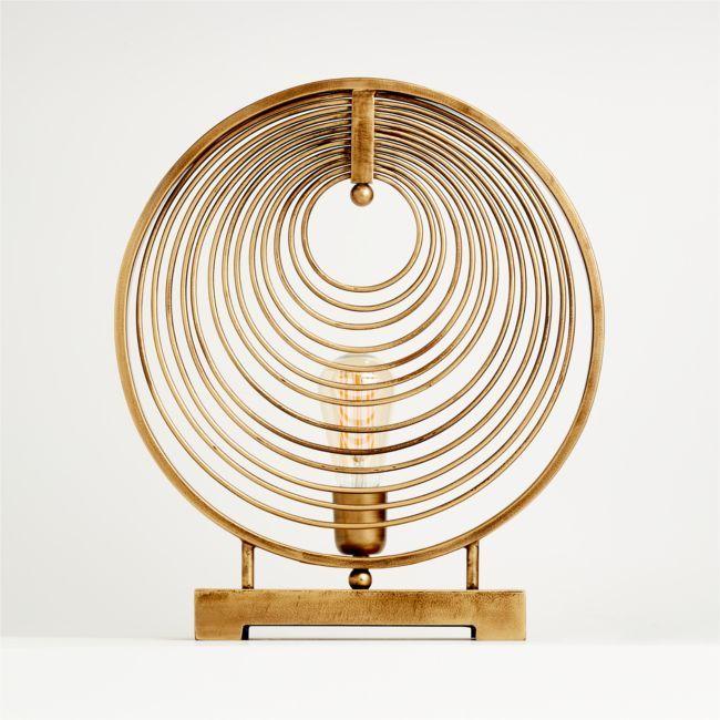 Rowan Circle Table Lamp | Crate and Barrel