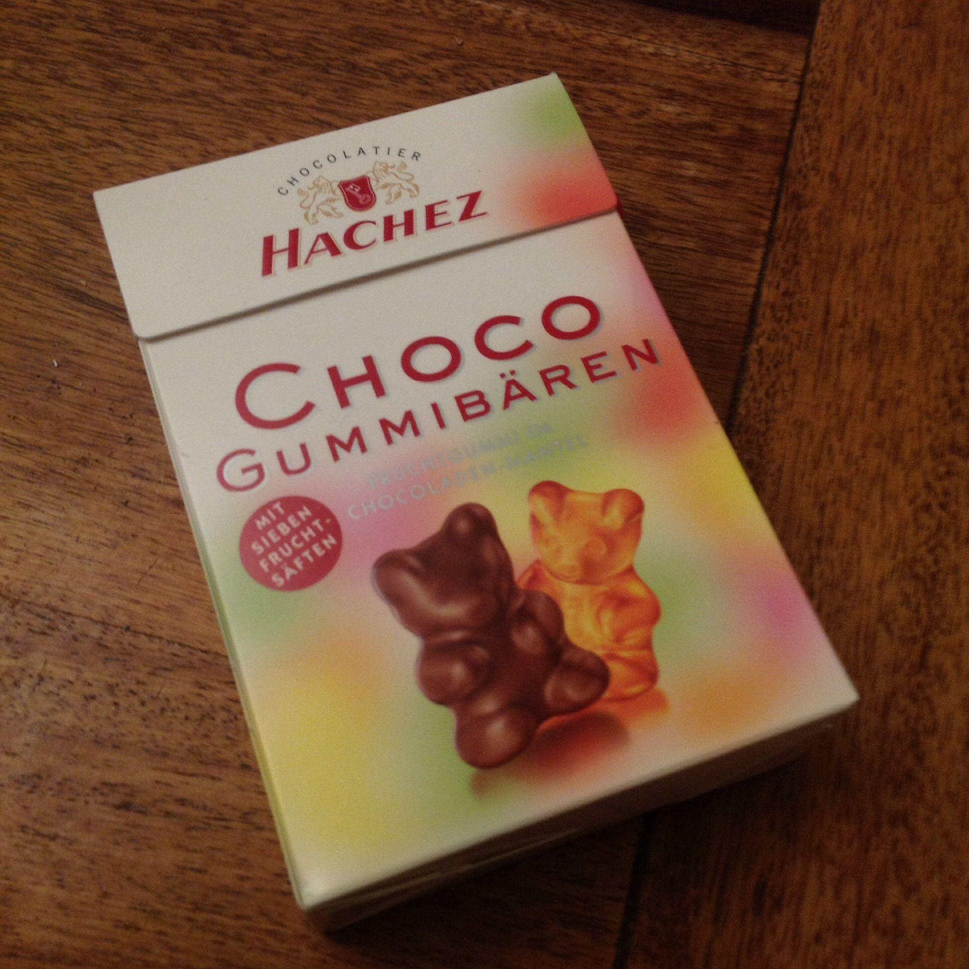 Hachez Choco Gummibären mit 7 Fruchtsäften ~ chocolate covered ...