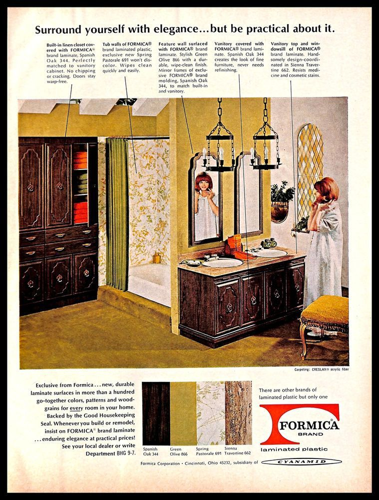 Formica laminated plastic vintage print ad flooring home interior decor vintagehomedecor also easy decorating tips anyone can use design rh pinterest