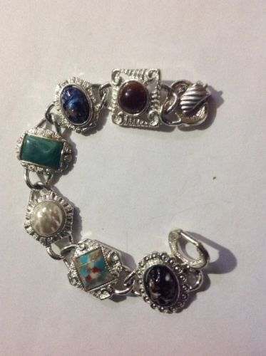 Vintage Silver Tone Sarah Coventry with multi color stones
