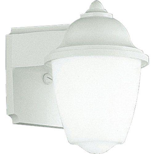 Progress Lighting P7344 30 White Outdoor 13 Watt Plastic Wall Mount Lantern With White Acrylic Glass White Wall Lantern Outdoor Wall Lantern Progress Lighting