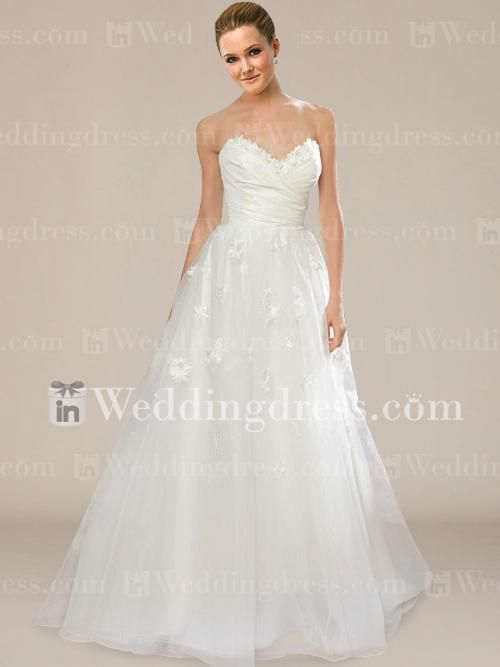 Simple Strapless Sweetheart Wedding Dress BC425